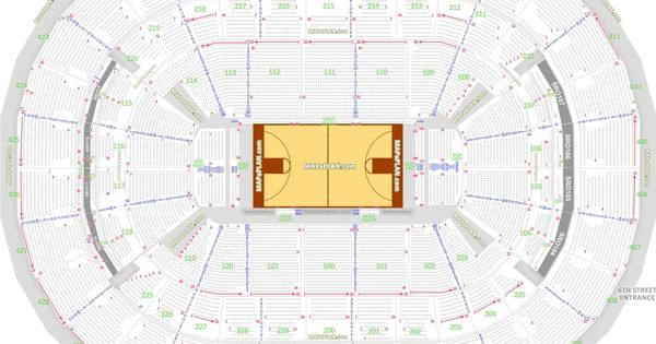 The Stylish Washington Wizards Seating Charts Seating Chart
