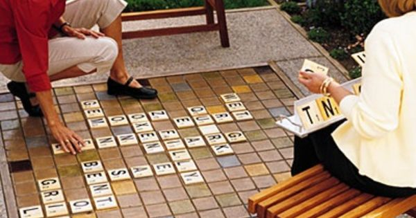Large Outdoor Scrabble Board Game... 30 DIY Ideas How To Make Your