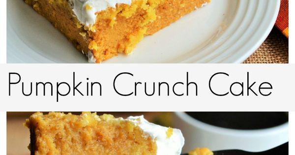 Pumpkin Crunch Cake | Recipe | Pumpkin crunch cake ...