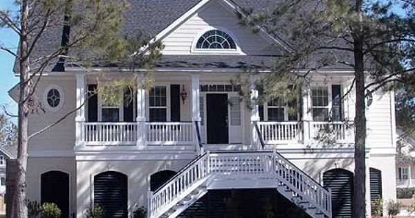 Plan 9141gu Low Country Grace With Convenient Elevator Coastal House Plans Low Country Homes Low Country