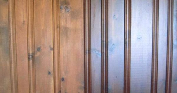 Diy how to transform a paneled wall with one product if Ways to update wood paneling