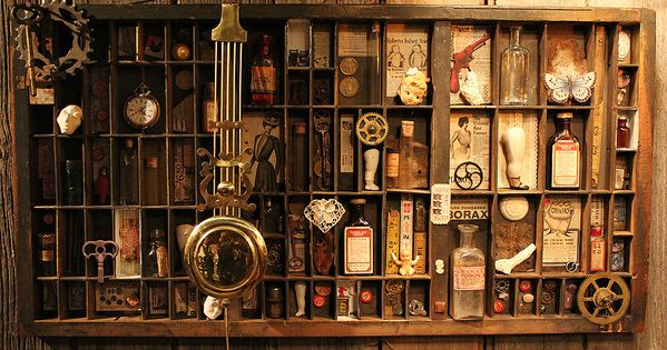 Curio Cabinet Thinking About My Scrapping Stuff With