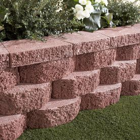 Castlewall Red Retaining Wall Block Common 10 In X 12 In Actual 9 2 In X 11 5 In Landscaping Retaining Walls Retaining Wall Bricks Retaining Wall Block