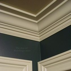 How To Install Crown Molding 103 For About 3 00 Ft Crown Molding Crown Molding In Bedroom Colored Ceiling