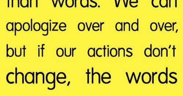 Actions And Words Quotes: Actions Vs. Words