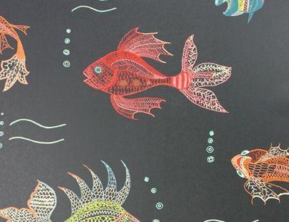 Tapete Aquarium Von Osborne Little Black Schone Tapeten Tapeten Tapeten Bilder