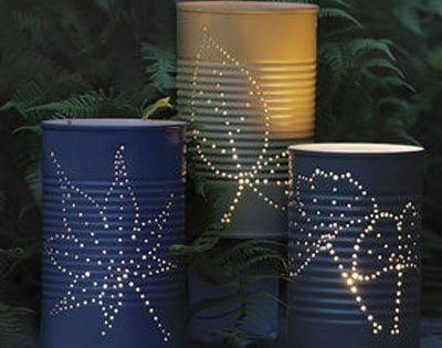 Tin can luminaries metals apartment therapy and diy and for Homemade luminaries