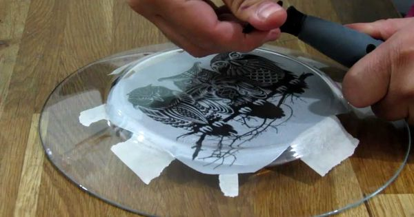 How to engrave on glass using dremel diamond bit