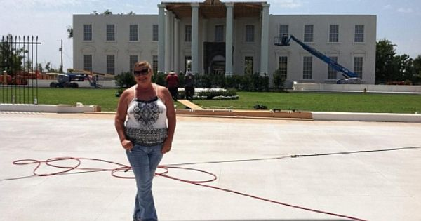 On The Set Of Olympus Has Fallen Bossier City La A White House Set Was Built Here For The Movie Bossier City Places Ive Been City