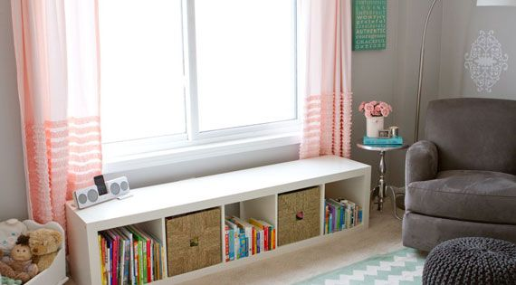Under Window Storage Bench Nursery Ideas Pinterest Spearmint Baby And Shelves
