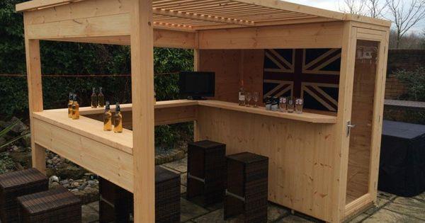 am nager un bar de jardin conseils utiles bar de jardin bar et en bois. Black Bedroom Furniture Sets. Home Design Ideas