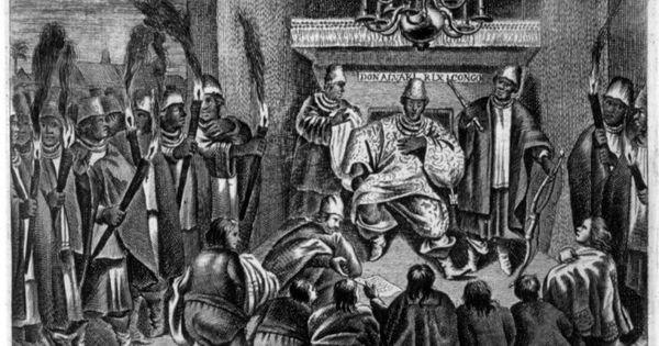 King Of Kongo Receiving Dutch Ambassadors 1642 Do Dapper