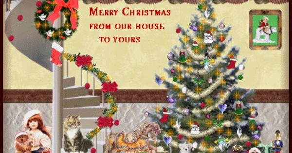 Christmas Clipart Animated Merry Christmas From Our House To Yours Animated Christmas Card Merry Christmas Card Christmas Card Images