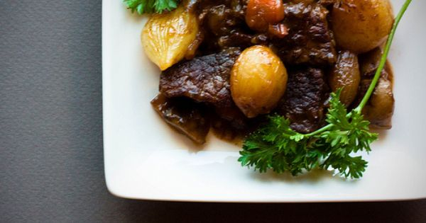 Boeuf Bourguignon [Beef Stew in Red Wine, with Bacon ...
