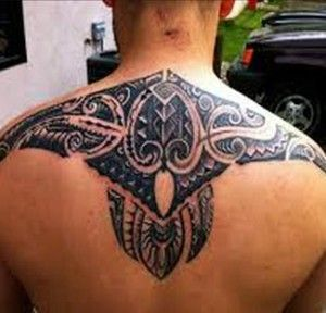 Polynesian Tattoo Design Back Shoulder