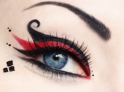 Harley Quinn inspired makeup idea GREAT HALLOWEEN COSTUME!
