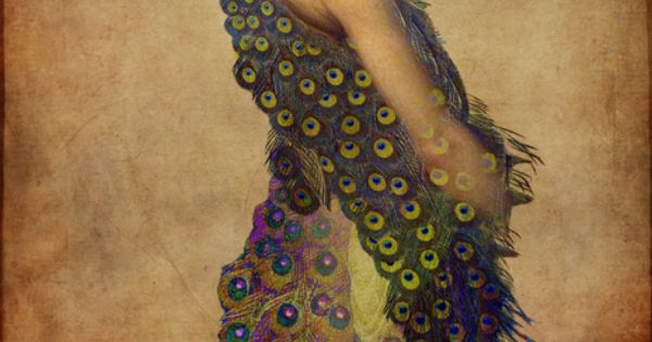 Peacock dress Art Prints by Catrin Welz-Stein - Shop Canvas and Framed