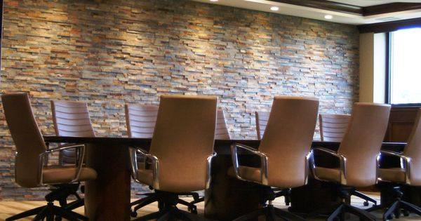 Conference Room With Stone Accent Wall Bafco