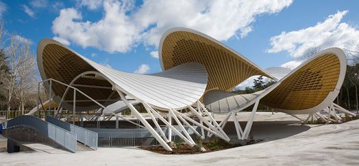 Un Auditorio Diferente Secretos De Madrid Diseño De Pabellón Arquitectura Materias Cubierta Arquitectura
