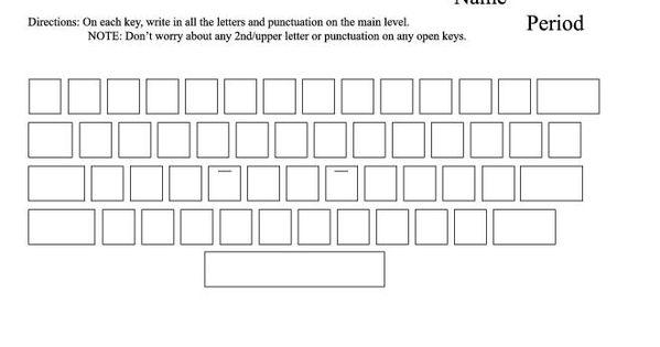 blank typing keyboard worksheet keyboard pinterest worksheets computer keyboard and. Black Bedroom Furniture Sets. Home Design Ideas