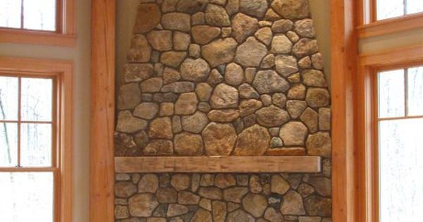 New England Fieldstone Round Building Veneer Small Fireplace For The Home Pinterest Small