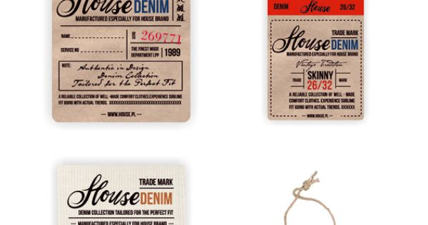 Vintage Denim Swing Tag & Label by Anna Maja Czech