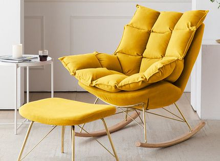 Nordic Light Luxury Home Nap Leisure Rocking Chair In 2020 Home Office Design Baby Room Design Home Comforts