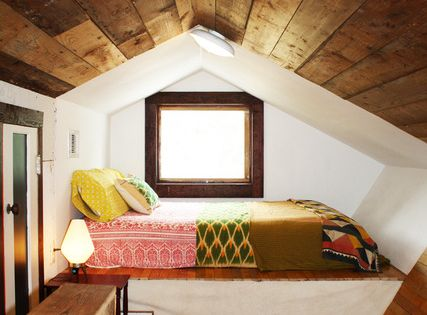 Use for attic space. Cozy nook for relaxing, or a guest room.
