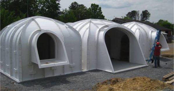 Estas casas semi enterradas modulares y sostenibles - Casas enterradas ...