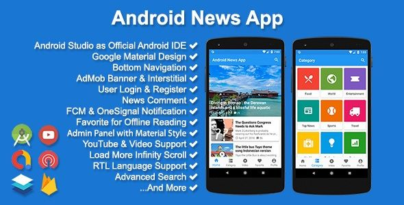 Android News App App Template App Android Apps