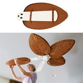 Best Decorative Ceiling Fan Blade Covers For An Instant Makeover Organized Sparkle Ceiling Fan Blade Covers Ceiling Fan Blades Decorative Ceiling Fans Palm leaf ceiling fan blades