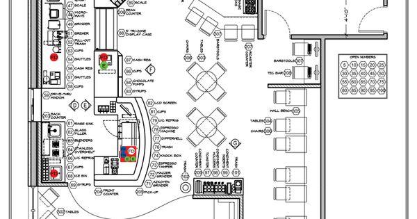 cafe floor plan showing floor stub