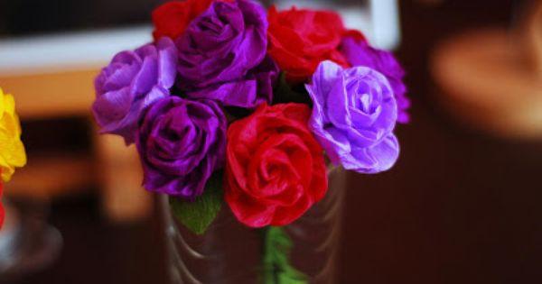 Lubie Tworzyc Roze Z Bibuly Marszczonej Video Flowers Rose Diy