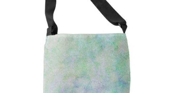 Watercolor mint tote crossbody bag