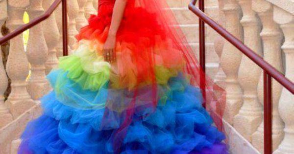 Th me arc en ciel mariage tout en couleur arc en for Magasins de robe de mariage portland oregon