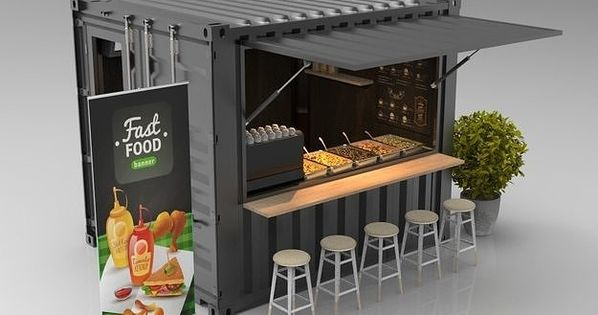 10ft Container Kiosk Container Cafe Cafe Shop Design Food Stall Design