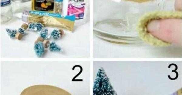 selbstgemachte geschenke schneekugel basteln glas dekel klebstoff weihnachtsdeko basteln. Black Bedroom Furniture Sets. Home Design Ideas