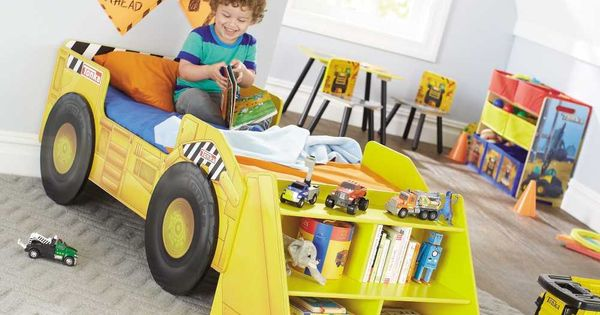 Tonka Truck Toddler Bed With Storage Shelf Beautiful