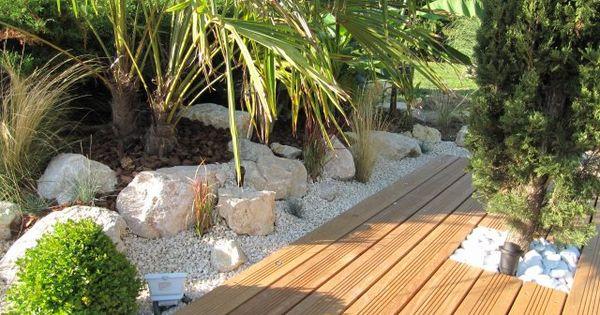 Image aper u de la nouvelle terrasse en cours de for Amenagement jardin nouvelle construction