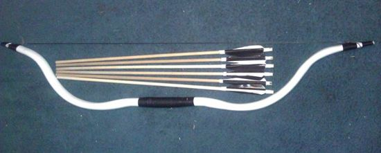 Bow and arrows made from pvc pipe my husband and i made for Pvc pipe bow plans
