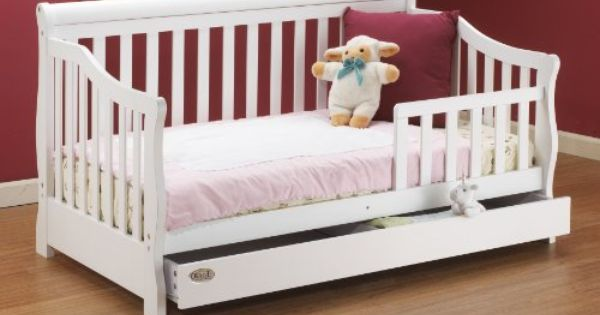 Sophisticated Solid Wood Toddler Bed With Storage Drawer White White 54 D X 29 H X 33 W Toddler Bed With Storage Bed Storage Drawers Kid Beds