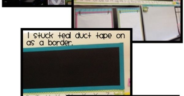 Bulletin board from scratch. Other great ideas on classroom organization on here,