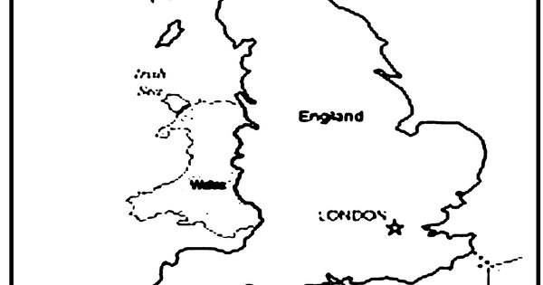 england map coloring pages - photo#18
