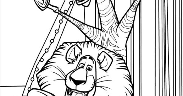 Madagascar 3 Coloring Picture