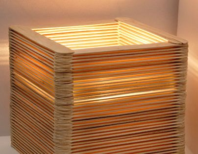 originelle lampe aus holzspateln lamp shades pinterest lampen lampe selber bauen und holz. Black Bedroom Furniture Sets. Home Design Ideas