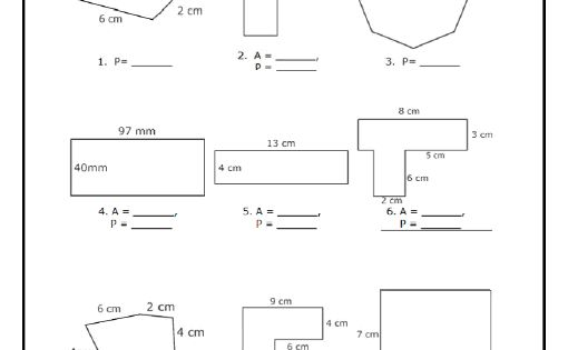 Area Of Polygons Worksheets Free Standards Met Area And