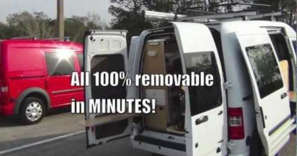 Ford Transit Connect Camper >> Ford Transit Connect Camper Conversion: Pro & Homemade DIY Options | Road Trip | Pinterest ...