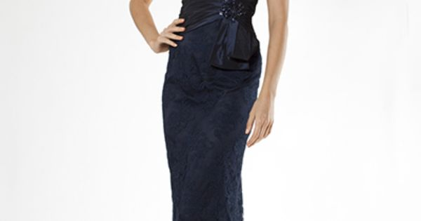 Beautiful Mother Of The Bride/Groom Gown! Navy Lace Gown