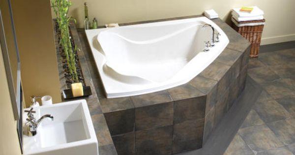 Maax Cocoon 60 X 54 Hydrosens Whirlpool Corner Tub Corner Bathtub Soaker Tub