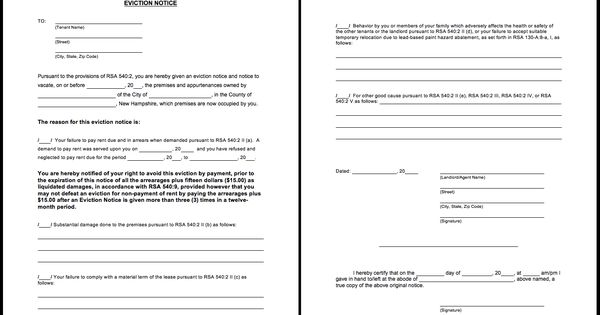 Printable Blank Eviction Notice Form  HttpResumesdesignCom